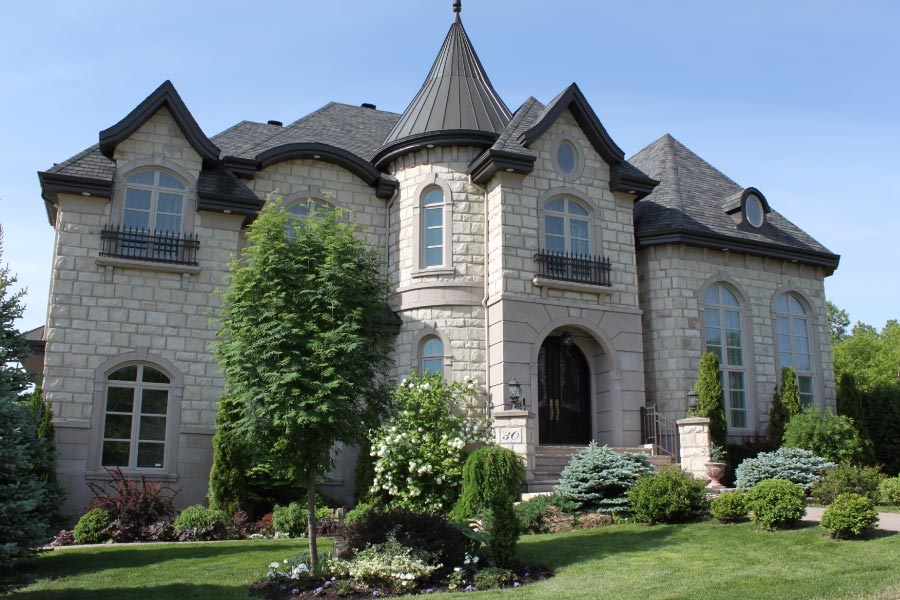 Large, luxury stone house