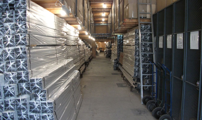 materials in the warehouse