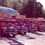 Fleet of Ford trucks - 1974